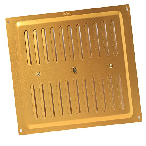 9 x 9 Adjustable Vent Brass Anodised Aluminium / Metal Grille Ventilation Cover by SmartHome -