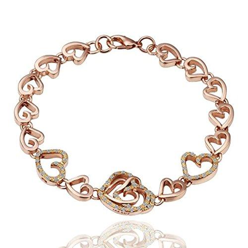 18k-plaque-or-rose-femme-bracelets-lien-coeur-forme-longueur-8inches-adisaer-bijoux