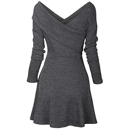 Donna primavera vestito manica lunga cerniera elegante dress lunghezza del ginocchio party club cocktail matita vestiti