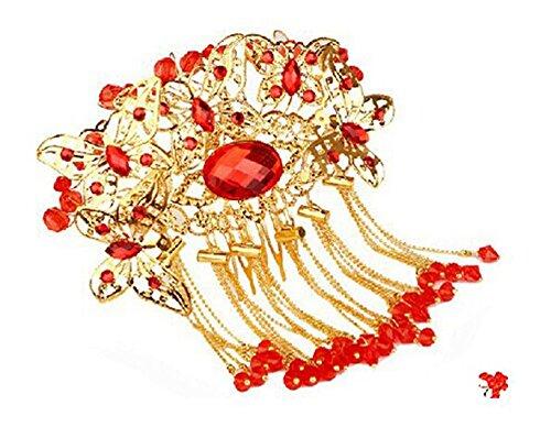 peignes traditionnels charme exquis de cheveux de mariage chinois, papillon