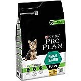Pro Plan Dog Small und Mini Puppy Hund, Huhn und mit Reis, Trockenfutter, 1er Pack (1 x 3 kg) Beutel