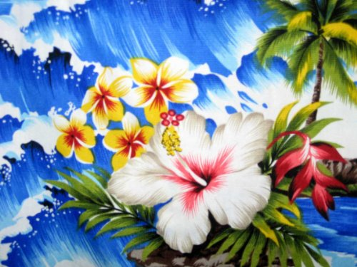 Pacific Legend   Original Hawaiihemd   Herren   S - 4XL   Kurzarm   Front-Tasche   Hawaii-Print   Welle Palmen Blumen   Blau Blau