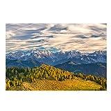 pcrcp Pittura Ad Olio Paesaggio Stampa Montagna E Foresta Quadri su Tela Decorazione della Casa Soggiorno Arte della Parete Natura Paesaggi Poster E Stampe-60cmx70cm