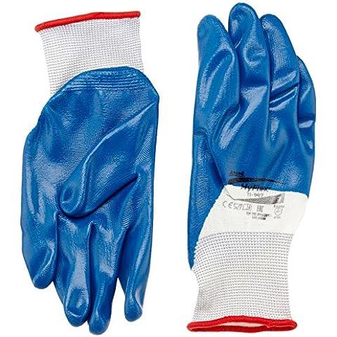 Ansell HyFlex 11-907 Guanti oléofuges, protezione meccanico, colore: blu (Confezione da 12 paia)