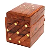 Craftgasmic wooden Jewelery box (3in 1)