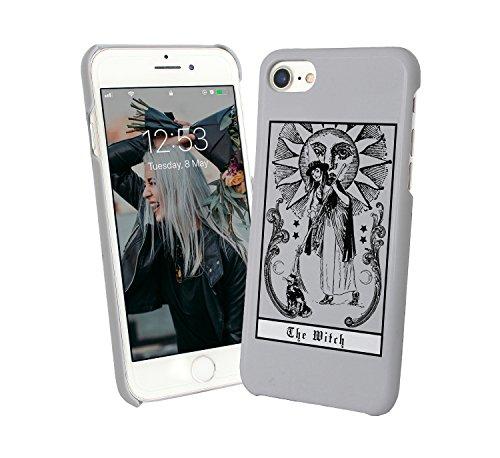 The Magic Witch Black Magic Cats Sun Moon Incantations Dance and Songs Gothic Girly Dark iPhone 6 7 8 X Galaxy Note 8 Huawei Schutzhülle aus Hartplastik Hard Plastic Handy Hülle Cat Hard Case
