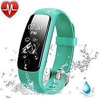 Lintelek Fitness Armband HR Aktivitätstracker Fitness Tracker Herzfrequenzmessung IP67 Wasserdicht Smart Bracelet Smartwatch Fitness-Uhr Schlaftracker Kalorienzähler