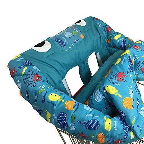 Biback 2in 1Warenkorb COVER | Hochstuhl Bezug für Baby | Kinder Spiel Spielzeug Matte Pad | 120x 120cm
