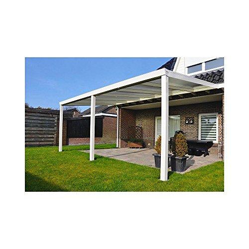 Terrassen Überdachung Aluminium 700 x 350 cm mit Polycarbonat Stegplatten 16 mm Dacheindeckung...