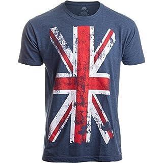 Union Jack Flag | UK United Kingdom Great Britain British for Men Women T-Shirt-(Adult,XL)