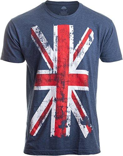Unisex T-Shirt mit Union Jack - Motiv britische Flagge im Used-Look England Grossbritannian - M