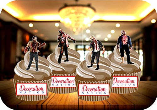 lige Zombie Mix Geburtstag Kuchen Toppers Dekorationen Cupcakes ()