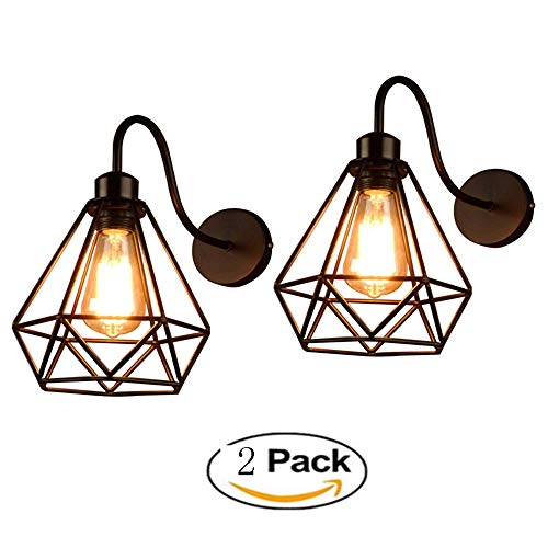 GENGJ-lampe 2 Pack Lámpara De Pared Vintage Industrial