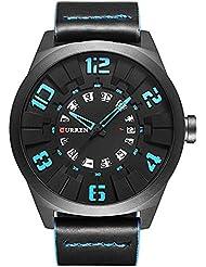2017New Curren Luxury sport maschio moda uomo orologio militare orologio da polso al quarzo in pelle marrone 8258
