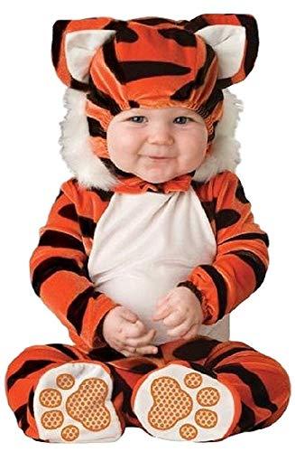 Tiger Tot Kostüm - Fancy Me Deluxe Baby Jungen Mädchen Tiger Tot Dschungelbuch Tag Halloween Charakter Kostüm Kleid Outfit - Orange, 6-12 Months