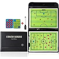 PhantomSky Professionel Fußball Taktiktafel Taktikmappe Coachboard für die Spielanalyse Oder Schulung mit Magnete, Stifte und Radiergummi (Größe: 53cm x 31cm)