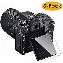 KIMILAR Nikon D7500 Pellicola Protettiva, (3 Pezzi) Proteggi Schermo in Vetro Temperato per Nikon D7500