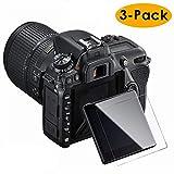Nikon D7500 Schutzfolie, (3 Stück) Kimilar Blase-Free 9h Härte Easy Installation HD Clear gehärtetem Glas Displayschutzfolie für Nikon D7500