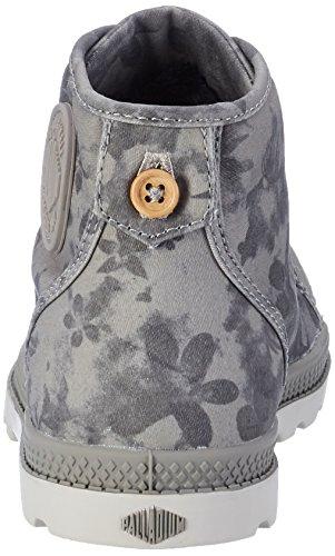 Palladium Damen Pallabrouse Mid Lp Sneaker Grau (Elephant Skin/Silver Gray/Floral Print)