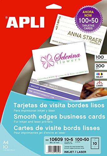 Tarjeta de Visita Profesionales con Bordes Lisos  medida: 89x51 mm gramaje: 200 gr.