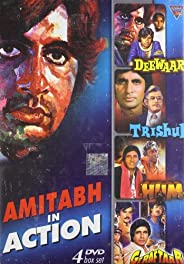 AMITABH IN ACTION (Set Of 4 Dvd's) Deewar-Trishul-Hum-Geraf