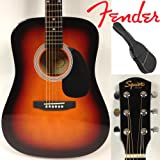 Fender Squier Akustik-Westerngitarre Set, in Dreadnought Form, Farbe Sunburst mit Rucksacktasche
