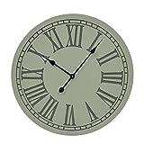 Relojes de pared de madera elegante números romanos reloj de pared redondo grande, 23(23,5x 23,5x 1cm blanco modelo # 33471