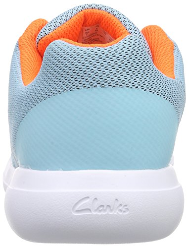 Clarks Kids - Sprintzone Jnr, Scarpe da ginnastica Bambina Blu (Blue)