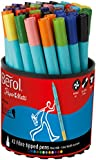 Berol Colour Fine Fibre Tipped Pen with 0.6 mm Line Width - Assorted Colours, Pack of 42