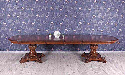 Unbekannt Klostertisch XXL Kurbeltisch Antik Esstisch Mahagoni Tisch ausziehbar 350 cm Palazzo...