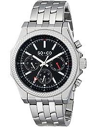 SO & CO New York 5003.1 - Reloj de cuarzo para hombres, plateado