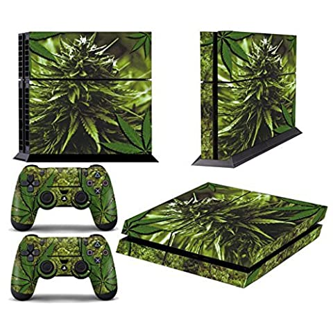 Hibote Vinyl Decal compl¨¨tes Skins Fa?ades Sticker Set pour Sony PlayStation 4 PS4 Console + 2 Manettes Skunk Bud