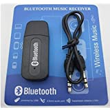 Ionix Universal Wireless Bluetooth V2.1 Car Kit Hands Free 3.5mm Music Audio Receiver Compatible with Smart Mobiles