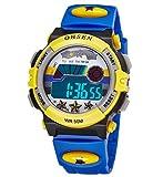 Infantil Niños Niñas Reloj Deportivo Digital Resistente al Agua Multifunción Led Al aire libre Reloj De Pulsera Azul