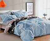Magnetic Shadow Queen Size AC Comforter Set Duvet Set with Bedsheet