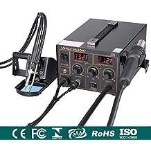 Estación de soldadura de aire caliente 853D, estación de soldadura digital 3 en 1 SMD