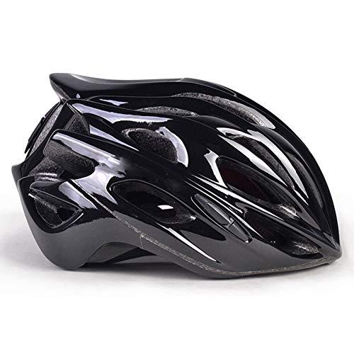 MAKE FINE Fahrradhelm Erwachsene Straße Downhill Helm Cross Country Mountainbike Helm Rollschuh/Skateboard Outdoor-Sport Helm,Schwarz