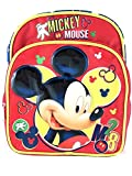 Mini Rucksack–Disney–Mickey Mouse rot 3D 25,4cm NEU 102258–2