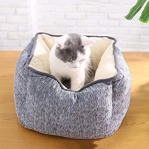 MIAO Pet Supplies Katze/Hund Bett Pet Cave & Haus Winter Haustiere Vier Quadrat Nest Haustier Katze Wurf Weiche Warme Pet Nest Matten,Grays