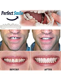 174a93ac304a ningbao651 Comfortable Snap On Men Women Tooth Instant Smile Comfort Fit  Flex Teeth Fits Whitening Smile False…