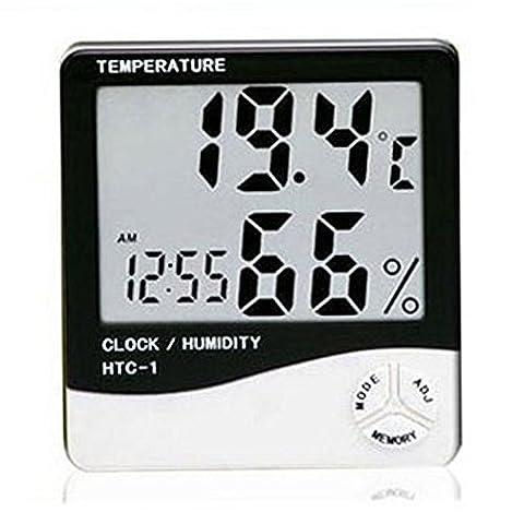 Afunta (tm) bureau ou murale All-in-One Digital Alarm Clock / Thermomètre / Calendrier