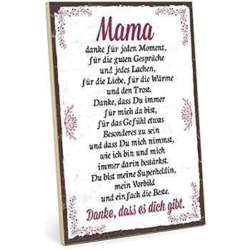 Typestoff Holzschild Mit Spruch Danke Mama Im Vintage Look Mit Zitat Als Geschenk Und Dekoration Zum Thema Liebe Mutter Und Familie 195 X 282