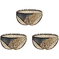 JIER Calzoncillos Boxer Hombre, Tangas Hombre Leopardo Impresión del Patrón de Leopardo Briefs de Triángulo Sexy con Estampado Animal 3D Braguitas Ropa Interior
