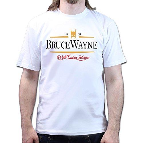 Bruce Wayne Stout Drink Arth T-shirt Weiß