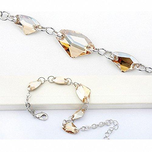 TAOTAOHAS- Bracelet [ pierre âme, cristal Golden Shadow ] fait avec Autrichien Cristal Wristlet Bracelet, alliage 18KGP carats platine / or blanc, tchèque strass Crystal Golden Shadow (True Platinum Plated)