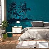 Wandtattoo Wandaufkleber Aufkleber Sticker Karibik Südsee Palmen Meer Strand M1887 ausgewählte Farbe: *silber* ausgewählte Größe: *XL*