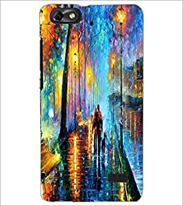 PrintDhaba Abstract Art D-1149 Back Case Cover for HUAWEI HONOR 4C (Multi-Coloured)