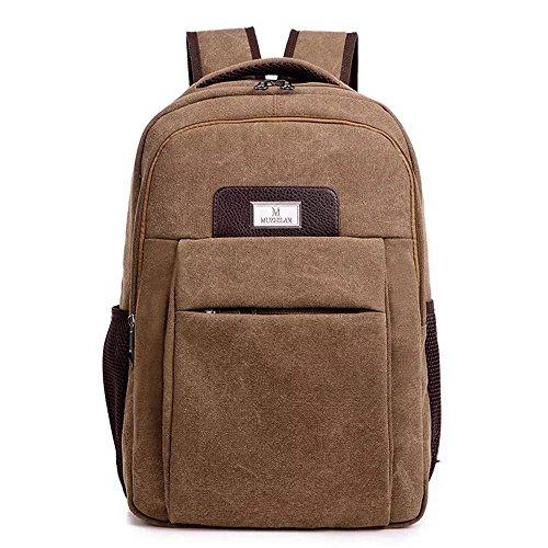 b32eec395e Naerde 15,6 pollici portatile zaino tela Vintage Zaino Zaini per notebook /  scuola / Trekking / Outdoor Casual tracolle College Bag Mens