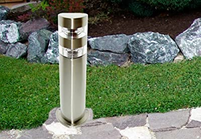 Edelstahl Wegbeleuchtung m. 3 x 8 LED 50 cm Gartenlampe