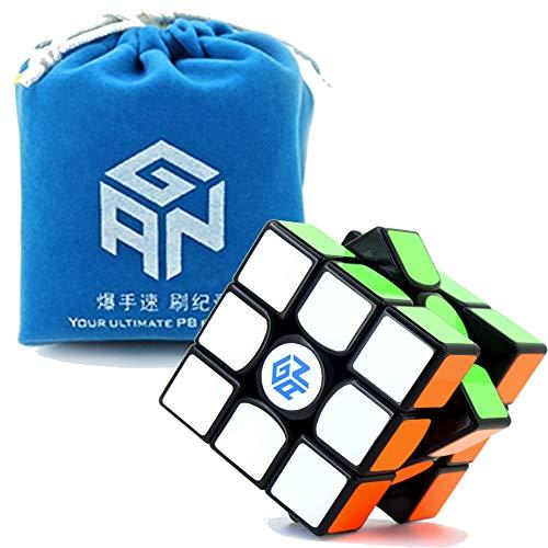 6285f9f6b5 GAN 356 Air Master Schwarz Set mit Original GAN Tasche und Cube Ständer Neu  Blau Core
